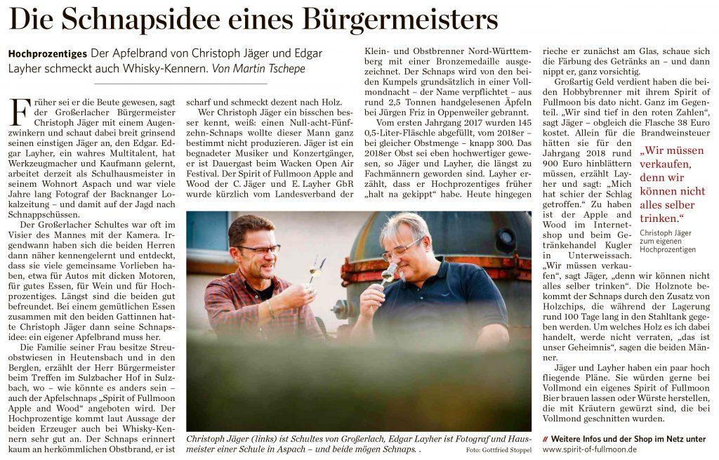 Spirit of FullMoon, Edgar Layher, Christoph Jäger, Chris & Eddy, Schnapsidee eines Bürgermeisters